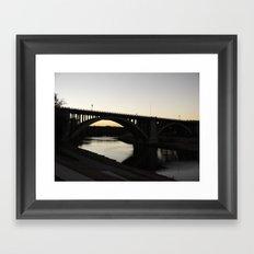 6:57PM Framed Art Print