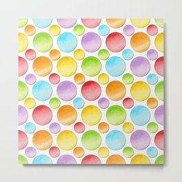 Rainbow Polka Dots Metal Print