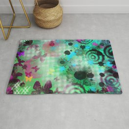 Abstract Garden Painting Rug