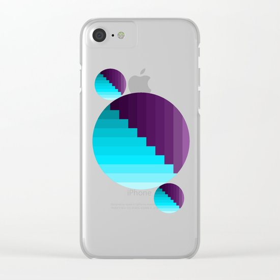 Ups and Down | Deep Within | Purple | Blue | Turquoise Clear iPhone Case