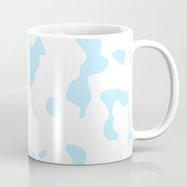 Large Spots - White and Light Blue Coffee Mug