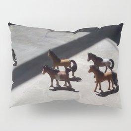 Tiny Toy Horses Roam Free Pillow Sham