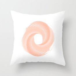 Cotton candy pink Throw Pillow