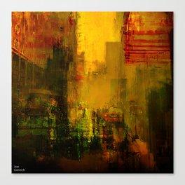 Yellow City Canvas Print