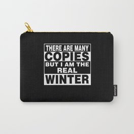I Am Winter Funny Personal Personalized Gift Carry-All Pouch