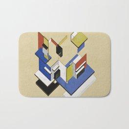 Theo van Doesburg - Contra-Construction Project (Axonometric) - Abstract De Stijl Painting Bath Mat