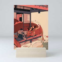 Tell a Dragon Colorful Stories Mini Art Print