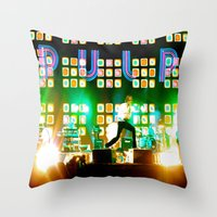 coachella Throw Pillows featuring PULP in Coachella by The Electric Blue / YenHsiang Liang