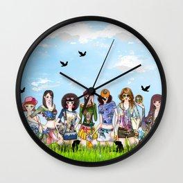 Trendy Fashion Models Wall Clock