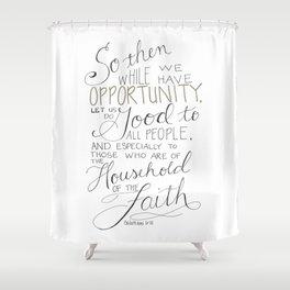 Let Us Do Good Shower Curtain