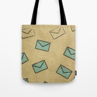 letter Tote Bags featuring Letter by sinonelineman