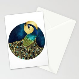 Golden Peacock Stationery Cards