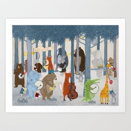 little nature parade Art Print