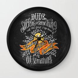 The Wisdom of Jake Wall Clock