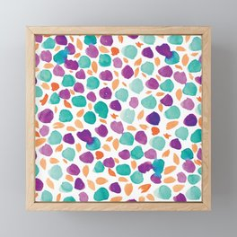 Ditsy Floral #1 | Purple, Mint, Orange Framed Mini Art Print