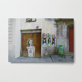 Paris Graffiti  Metal Print