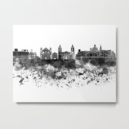 Valletta skyline in watercolor on white background Metal Print