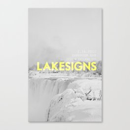 Lakesigns Poster - Darkroom, 2.16.2012 Canvas Print