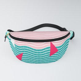 Hello Ocean Pink Sails Fanny Pack