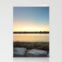 cape cod Stationery Cards featuring Cape Cod sunset by Speed of my Shutter