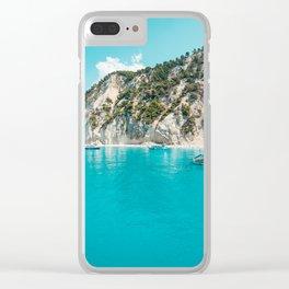 Greece beach paradise Clear iPhone Case