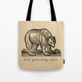 William Shakespeare, Exit Pursued by a Bear Tote Bag
