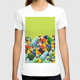 home decor pattern parrots T-shirt