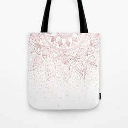 Elegant rose gold mandala confetti design Tote Bag