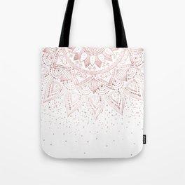Elegant rose gold mandala confetti design Tote Bag