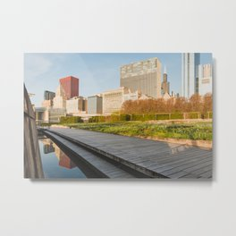 One Morning in Chicago Metal Print