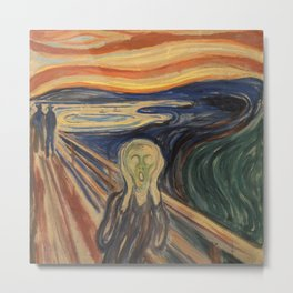 The Scream, Edvard Munch, classic painting Metal Print