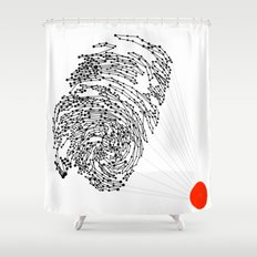 the Fingerprint Shower Curtain