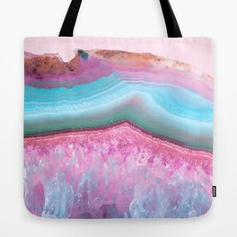 Rose Quartz and Serenity Agate Tote Bag