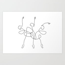 Ballet x 3 Art Print
