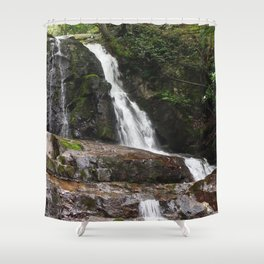 Tennessee Waterfall Smoky Mountains Color Photo Shower Curtain