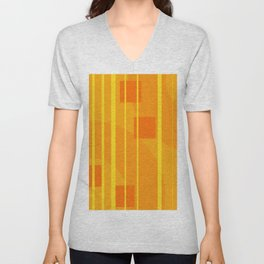 Stripes - Geometry Design Yellow Unisex V-Neck