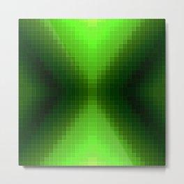 Green PixelS Metal Print