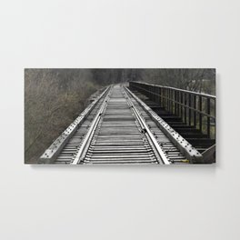 On That Train of Thought Metal Print