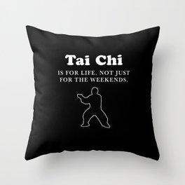 Tai Chi Chuan Taiji Chinese Martial Arts Gift Tai Chi design Throw Pillow