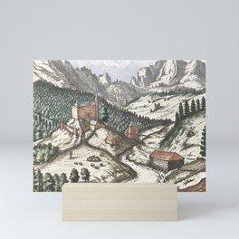 Village mountain scene Innsbruck Mini Art Print
