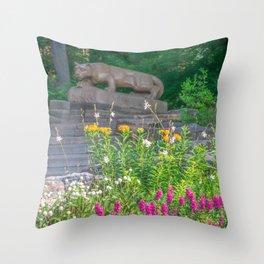 Penn State Nittany Lion Shrine Flowers Print Throw Pillow