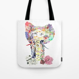 Patchwork Elephant Tote Bag