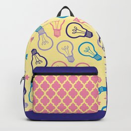 Pastel Lightbulb Pattern Backpack