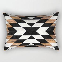 Urban Tribal Pattern 13 - Aztec - Concrete and Wood Rectangular Pillow