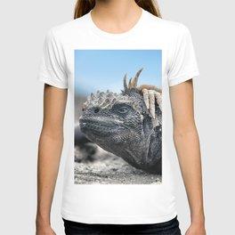 Funny rasta hair marine iguana T-shirt