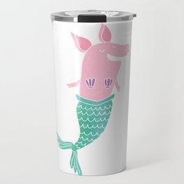 Mermaid Pig Travel Mug