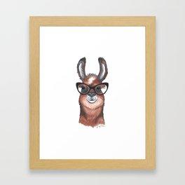 Hipster Llama Framed Art Print