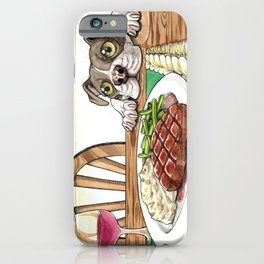 A Dog's Potential Steak Dinner iPhone Case