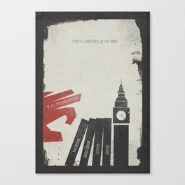 V Vendetta, alternative movie poster, graphic novel, Alan Moore, Natalie Portman, Guy Fawkes, S. Fry Canvas Print