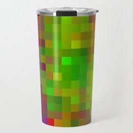 Digital Patchwork: Fuchsia Travel Mug